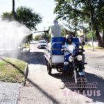 La desinfección continuó este sábado y domingo en barrios y zonas céntricas