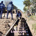 Inician obras de pavimentación y construcción de cordones en el barrio 60 Viviendas