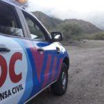 Personal de Defensa Civil también combate el fuego en las Sierras Centrales