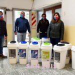 Colocan cestos especiales para separar residuos en las oficinas municipales