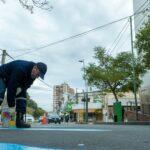 Obras públicas: reparan veredas y realizan tareas de demarcación vial en el centro